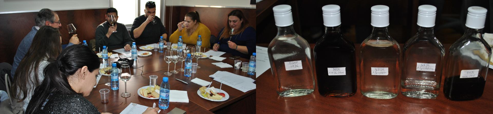 2η γευσιγνωσία νέων αλκοολούχων ποτών από χαρούπι για λογαριασμό του Πανεπιστημίου Κύπρου